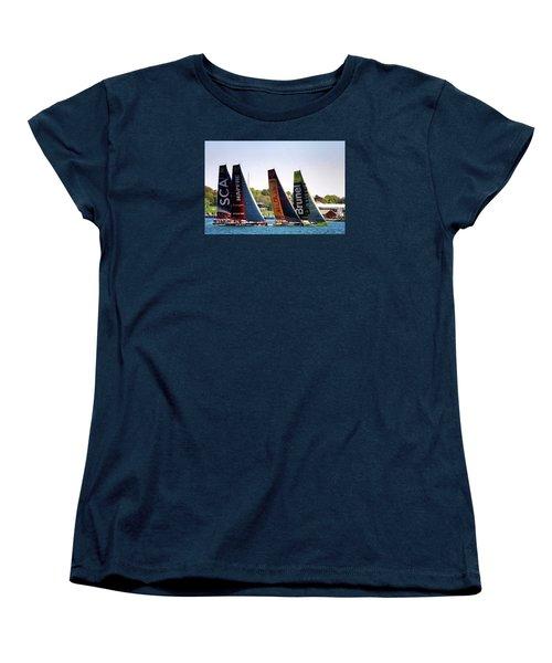 Women's T-Shirt (Standard Cut) featuring the photograph Volvo Ocean Race Newport Ri by Tom Prendergast