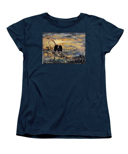 Vulture With Oncoming Storm Women's T-Shirt (Standard Cut)