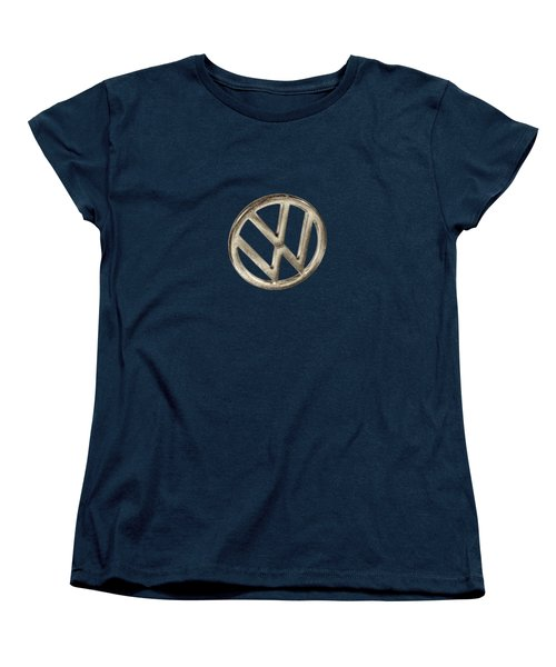 Vw Car Emblem Women's T-Shirt (Standard Cut) by YoPedro