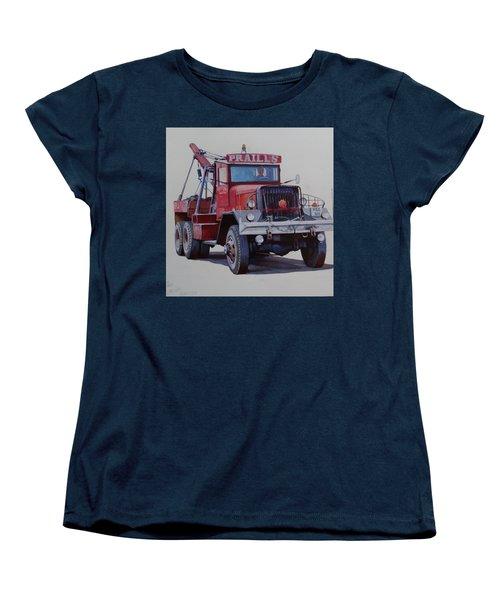 Women's T-Shirt (Standard Cut) featuring the painting Ward La France Wrecker by Mike Jeffries