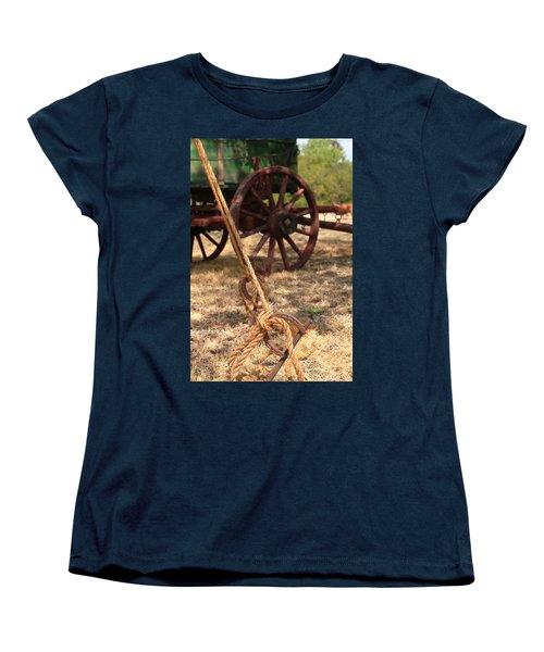 Wagon Stake Women's T-Shirt (Standard Cut) by Toni Hopper
