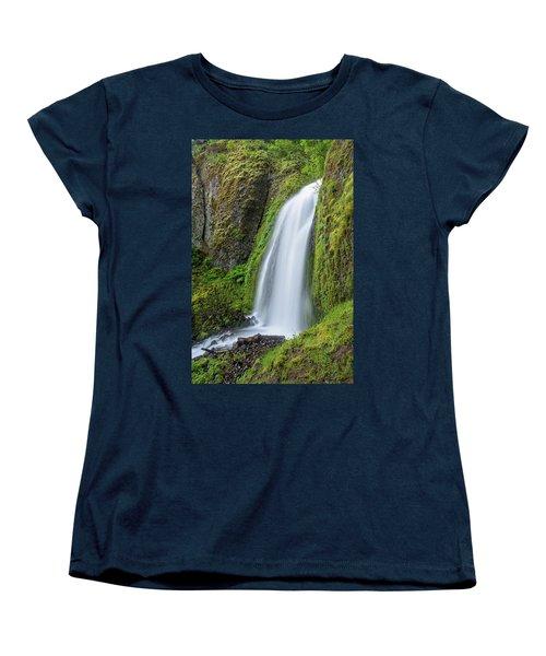 Women's T-Shirt (Standard Cut) featuring the photograph Wahkeena Falls by Greg Nyquist