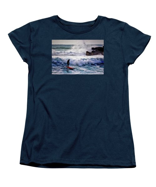 Waimea Bay Surfer Women's T-Shirt (Standard Cut) by Jim Albritton
