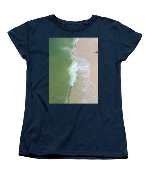 Women's T-Shirt (Standard Cut) featuring the photograph Waiting For The Wave by Teresa Schomig