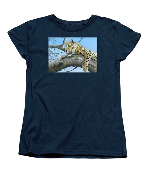 Women's T-Shirt (Standard Cut) featuring the painting Waiting Game by Mike Brown