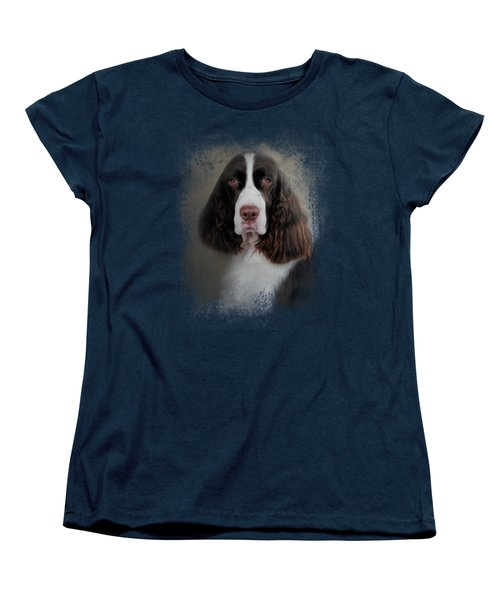 Waiting Patiently - English Springer Spaniel Women's T-Shirt (Standard Cut) by Jai Johnson