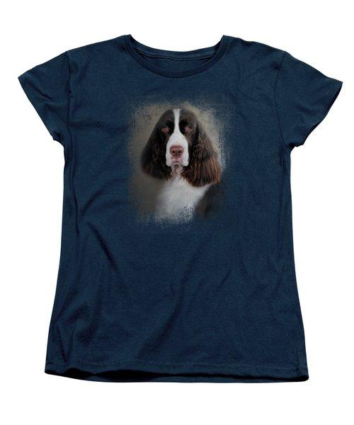 Waiting Patiently - English Springer Spaniel Women's T-Shirt (Standard Cut)