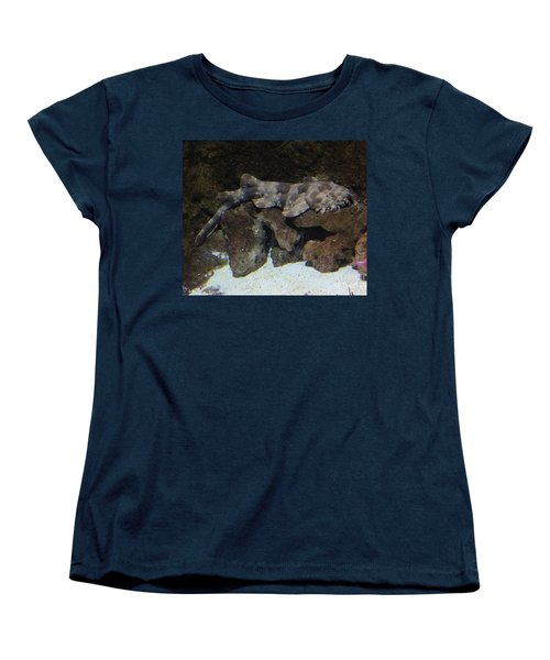 Waiting To Eat You - Spotted Wobbegong Shark Women's T-Shirt (Standard Cut) by Richard W Linford