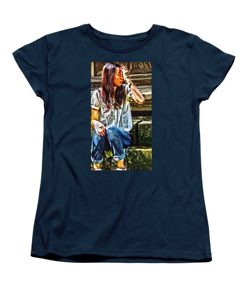 Women's T-Shirt (Standard Cut) featuring the digital art Waitng For You by Tim Ernst