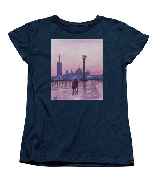 Walk In Italy In The Rain Women's T-Shirt (Standard Cut) by Dan Wagner