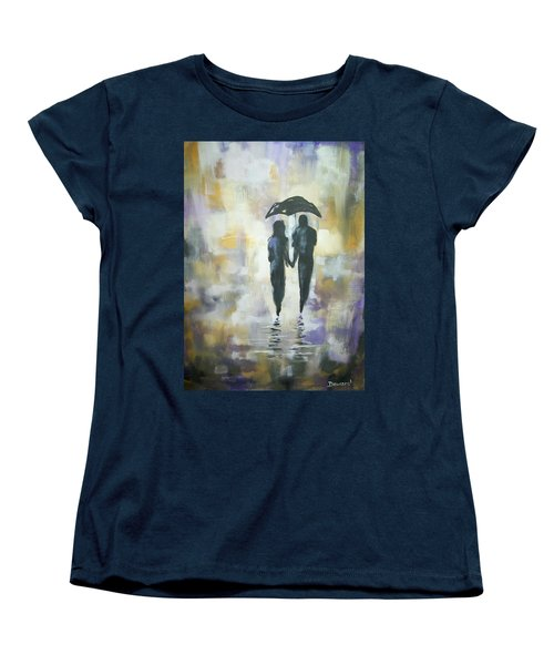 Walk In The Rain #3 Women's T-Shirt (Standard Cut) by Raymond Doward