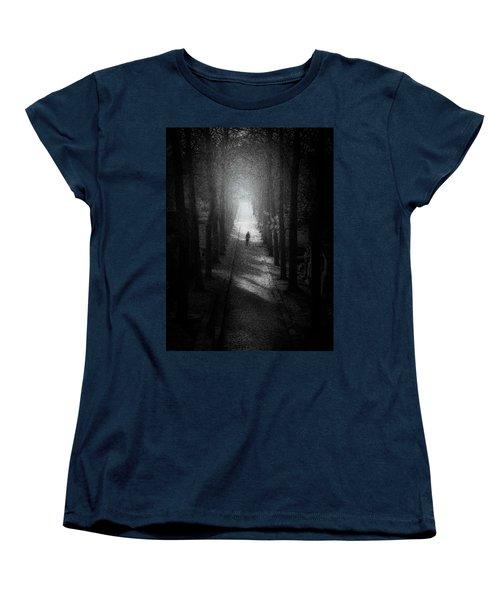 Walking Alone Women's T-Shirt (Standard Cut) by Celso Bressan