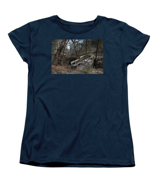 Walking Bridge Women's T-Shirt (Standard Cut) by Renie Rutten