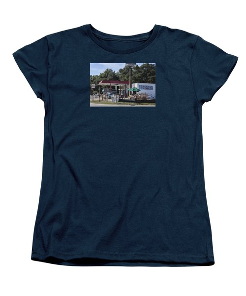 Walking Canes And Staffs At The Comeback Carwash Women's T-Shirt (Standard Cut) by Suzanne Gaff
