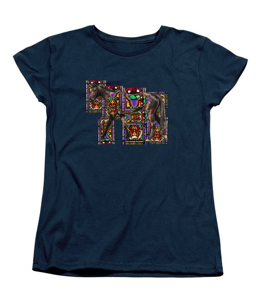 Walking Horse Women's T-Shirt (Standard Cut) by Tom Conway