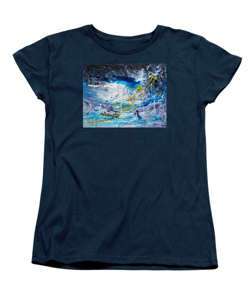 Walking On The Water Women's T-Shirt (Standard Cut) by Kume Bryant