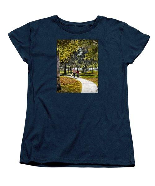 Walking Park Women's T-Shirt (Standard Cut) by John Swartz