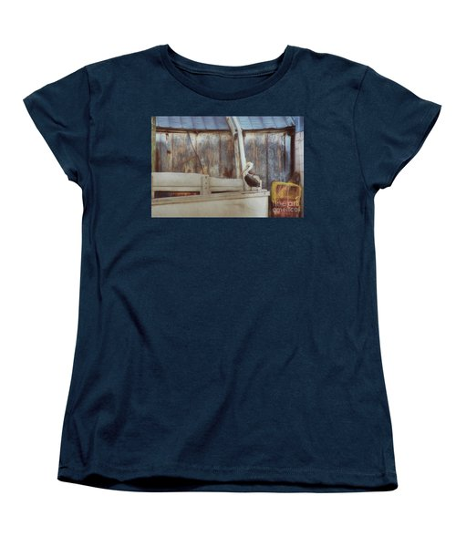 Women's T-Shirt (Standard Cut) featuring the photograph Walking The Plank by Benanne Stiens