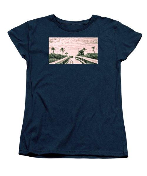 Walkway To The Beach Women's T-Shirt (Standard Cut) by Robert FERD Frank