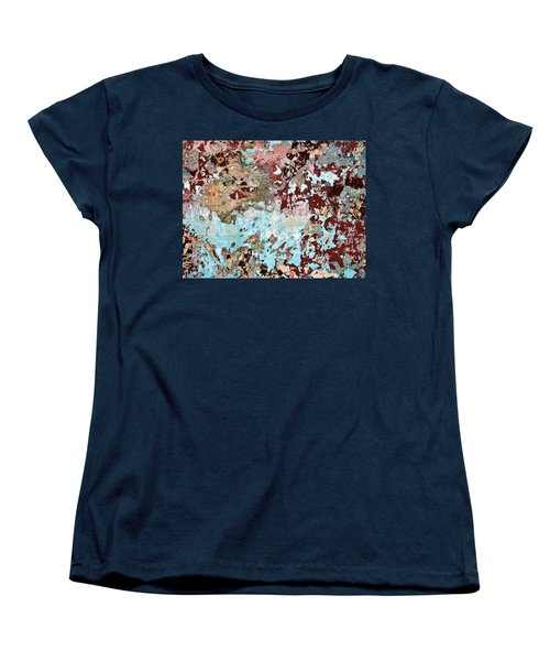 Women's T-Shirt (Standard Cut) featuring the photograph Wall Abstract 128 by Maria Huntley
