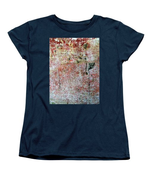 Women's T-Shirt (Standard Cut) featuring the photograph Wall Abstract 169 by Maria Huntley