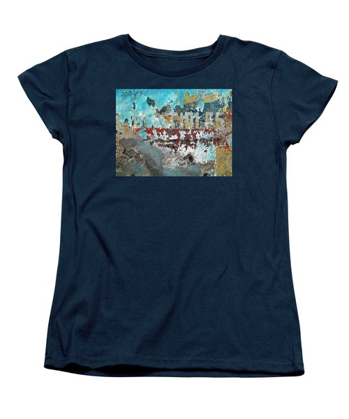 Women's T-Shirt (Standard Cut) featuring the photograph Wall Abstract 98 by Maria Huntley