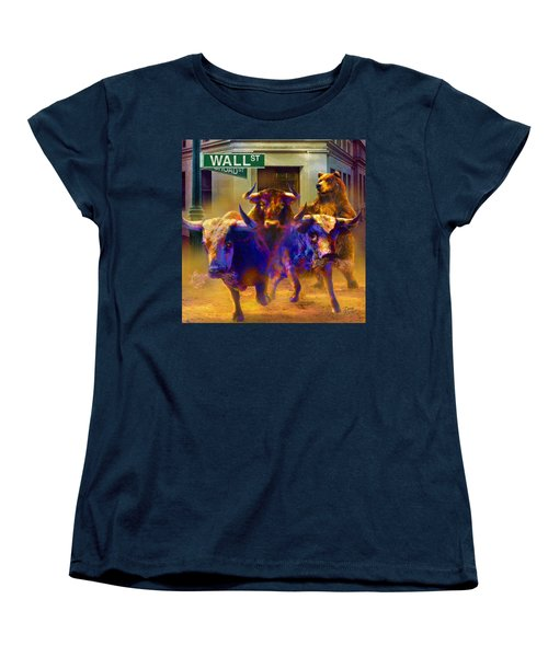 Women's T-Shirt (Standard Cut) featuring the painting Wall Street Il by Doug Kreuger