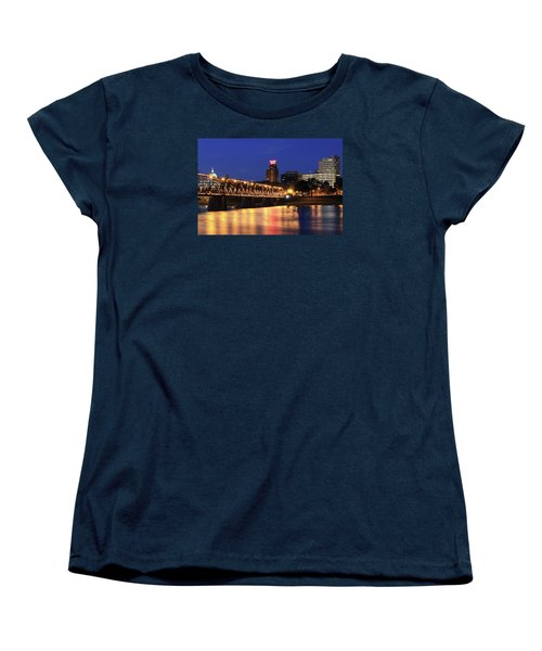 Walnut Street Bridge Women's T-Shirt (Standard Cut) by Shelley Neff