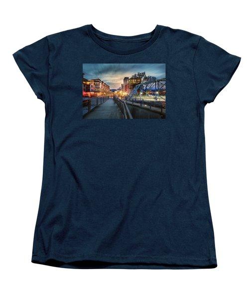 Walnut Street Circle Sunset Women's T-Shirt (Standard Cut) by Steven Llorca