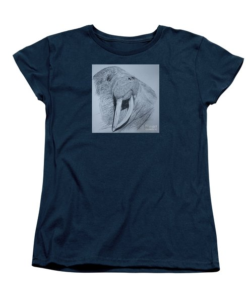Walrus Women's T-Shirt (Standard Cut) by David Joyner