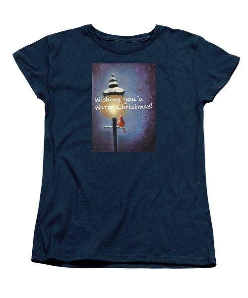 Warm Christmas Women's T-Shirt (Standard Cut) by Sharon Mick