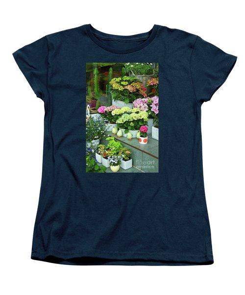 Warnemunde Flower Shop Women's T-Shirt (Standard Cut) by Eva Kaufman