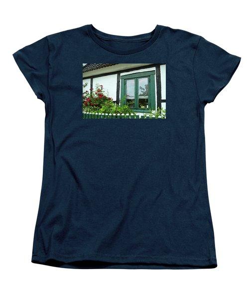 Warnemunde Germany Window Women's T-Shirt (Standard Cut) by Eva Kaufman