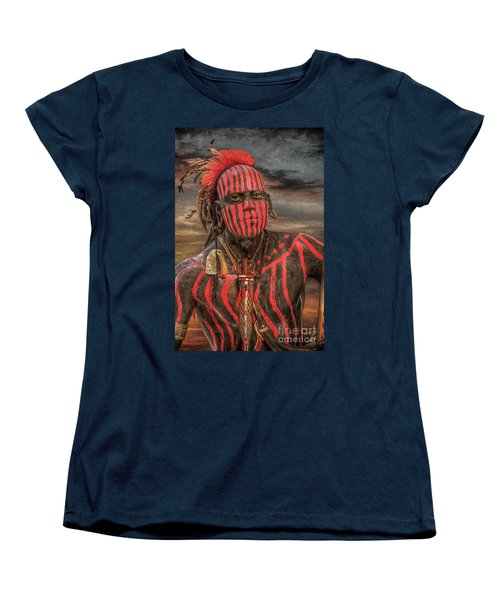 Warpath Shawnee Indian Women's T-Shirt (Standard Cut) by Randy Steele