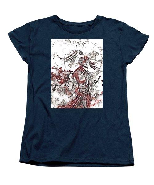 Warrior Moon Anime Women's T-Shirt (Standard Cut) by Vennie Kocsis