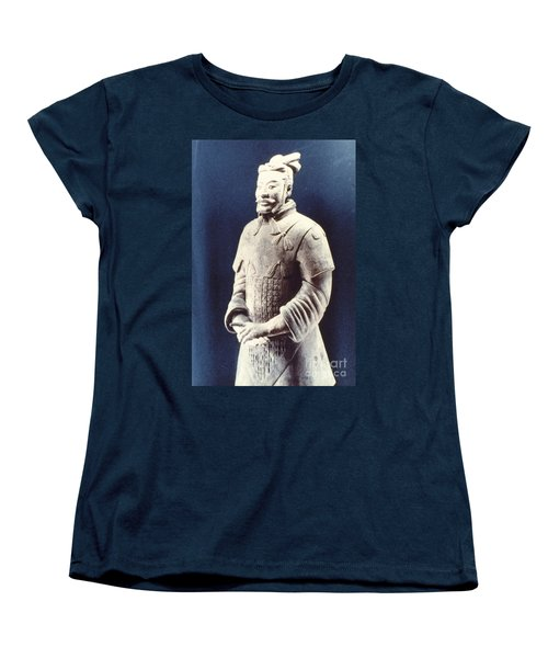 Women's T-Shirt (Standard Cut) featuring the photograph Warrior Of The Terracotta Army by Heiko Koehrer-Wagner