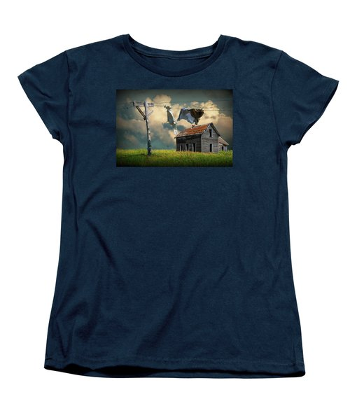 Wash On The Line By Abandoned House Women's T-Shirt (Standard Cut)
