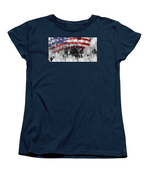 Women's T-Shirt (Standard Cut) featuring the painting Washington Dc Building 01a by Gull G