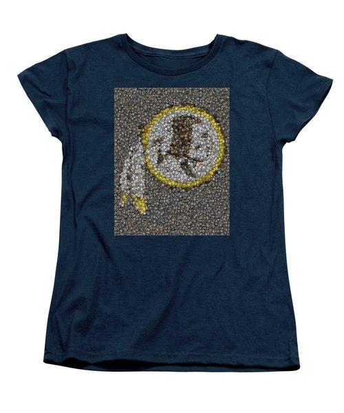 Women's T-Shirt (Standard Cut) featuring the mixed media Washington Redskins Coins Mosaic by Paul Van Scott