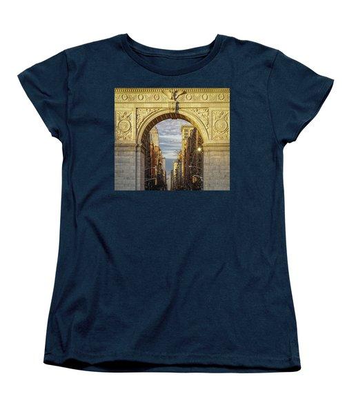 Washington Square Golden Arch Women's T-Shirt (Standard Cut) by Jeffrey Friedkin