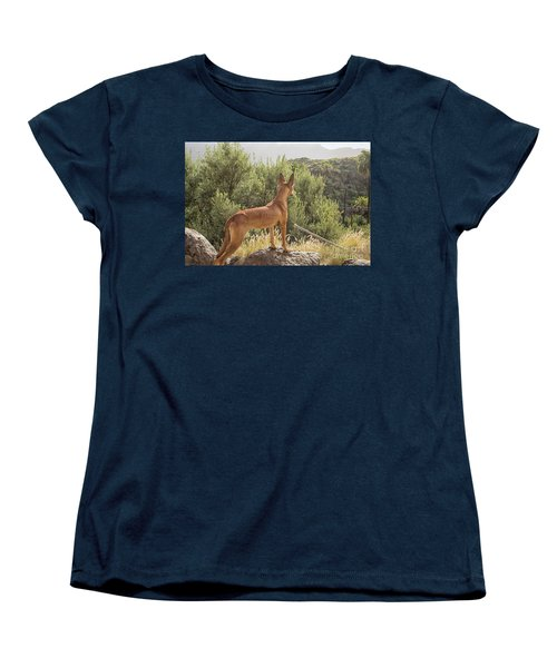 Watchful Dog Women's T-Shirt (Standard Cut) by Patricia Hofmeester