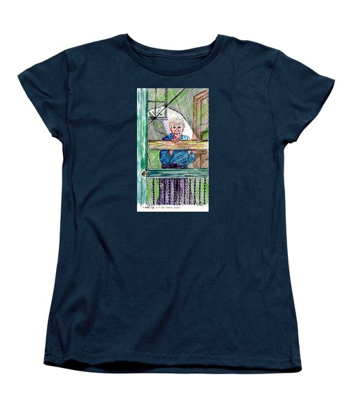Watching To See If The Kids Are Coming Women's T-Shirt (Standard Cut) by Philip Bracco