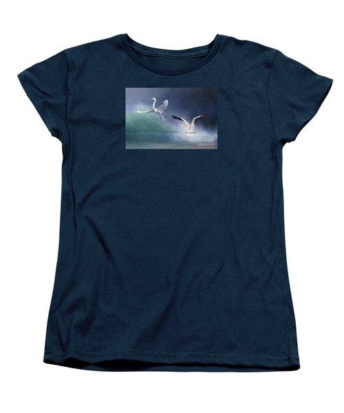 Water Ballet Women's T-Shirt (Standard Cut) by Bonnie Barry