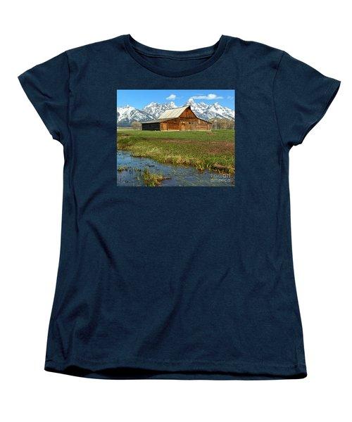 Water By The Barn Women's T-Shirt (Standard Cut) by Adam Jewell