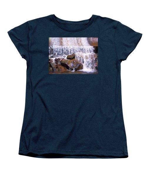 Women's T-Shirt (Standard Cut) featuring the photograph Water Cascade by Roberta Byram
