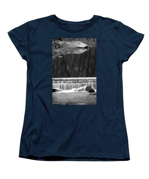 Women's T-Shirt (Standard Cut) featuring the photograph Water Fall And Reflexions by Dorin Adrian Berbier