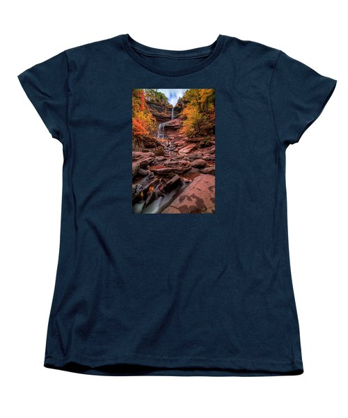 Women's T-Shirt (Standard Cut) featuring the photograph Water Falls  by Anthony Fields