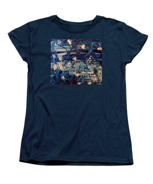 Water Garden Beyond Flight Women's T-Shirt (Standard Cut) by Kicking Bear Productions
