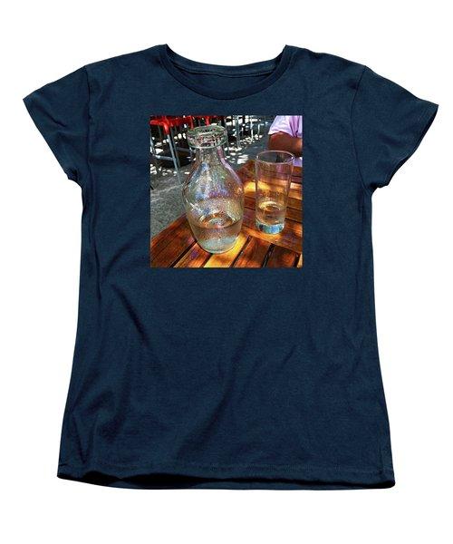 Water Glass And Pitcher Women's T-Shirt (Standard Cut) by Angela Annas