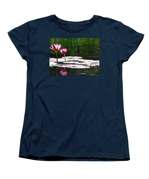 Women's T-Shirt (Standard Cut) featuring the photograph Water Lily by Greg Patzer